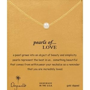 Dogeared Pearls of Love Gold Necklace